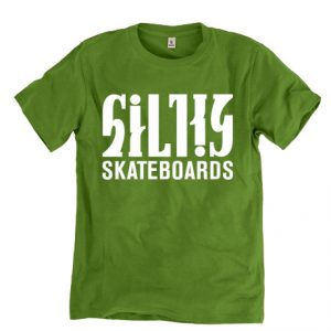 Silky-skateboards-tpaita-vihrea
